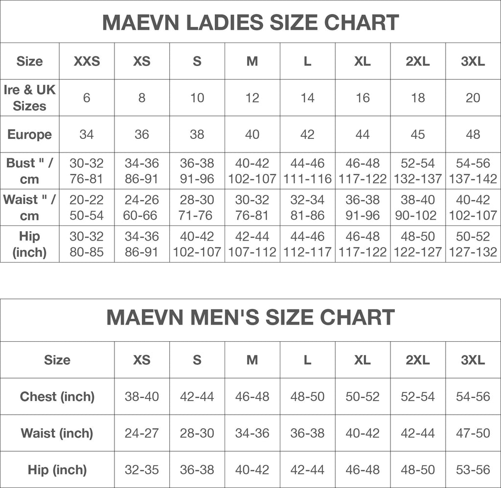 Maevn Nurses Uniforms, Scrubs & Medical Uniforms Size Chart