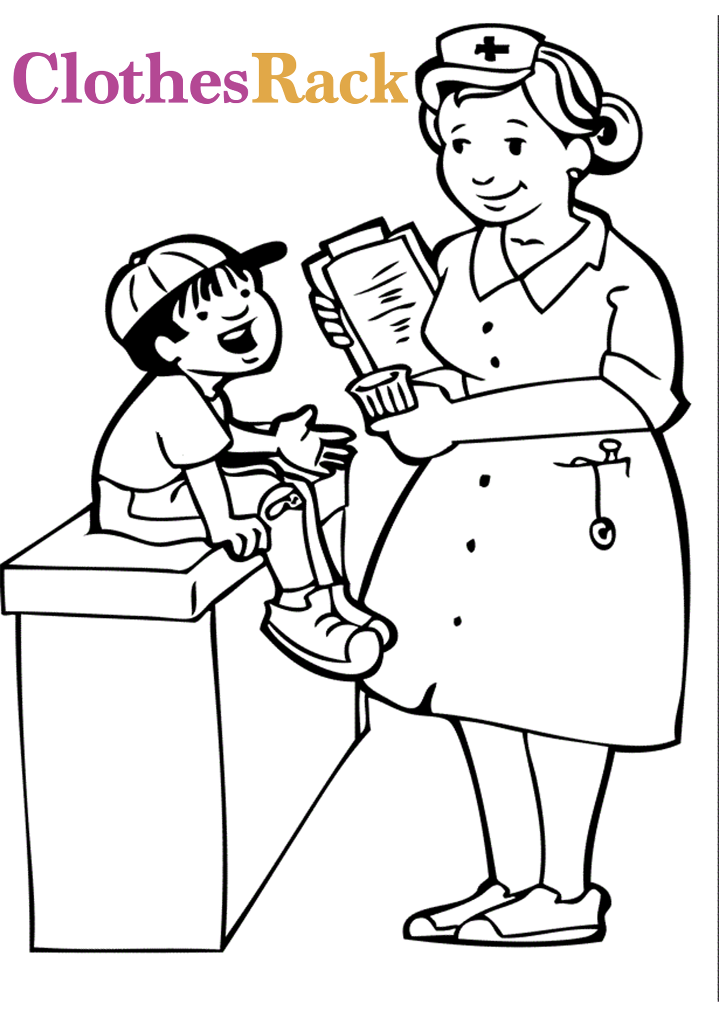 Free Medical Colouring Pages For Kids