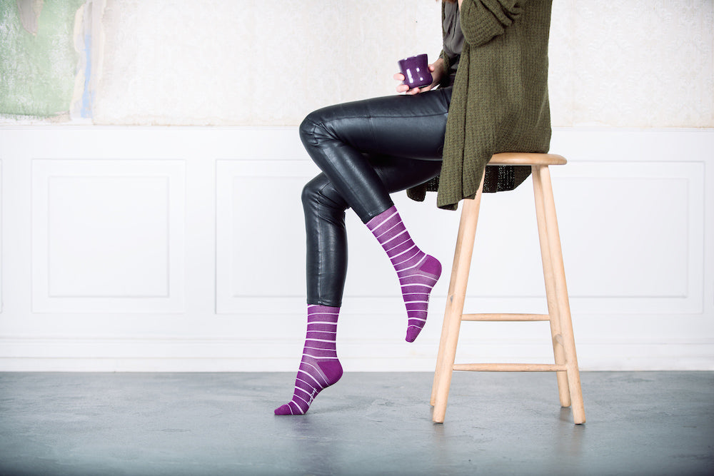 Purple compression socks & purple compression stockings from ClothesRackUniforms.com