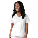 White medical uniforms for women. Check out these white nurses uniforms and white healthcare scrubs.