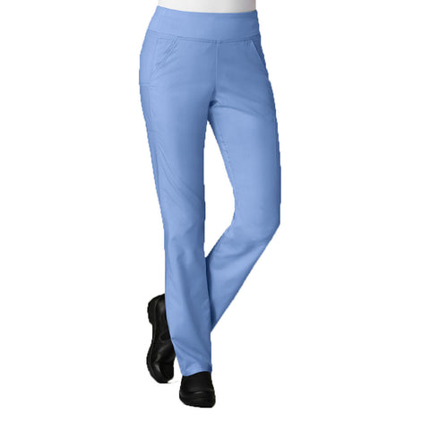 Ceil blue scrub pants that are suitable as nursing scrubs, dental uniforms & care assistant uniforms.