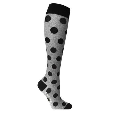 Compression Socks Black With Grey Polka Dots 7100-2 - Clothes Rack
