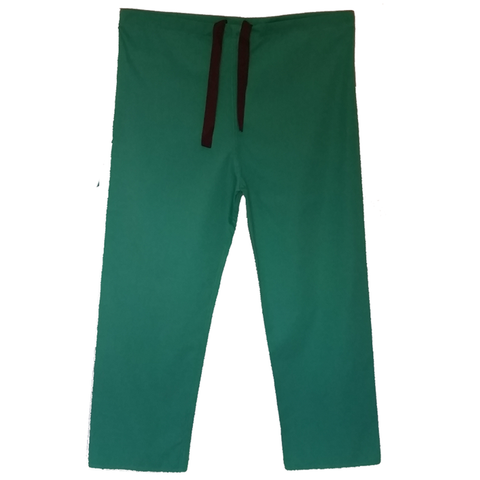 Bottle green cheap scrub pants suitable for use as a doctors uniform, dental nurse uniform or nursing uniform.