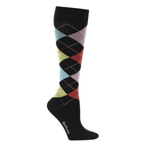 Compression Socks Black With Harlequin Squares 7000 - Clothes Rack