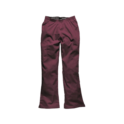 Wine scrub pants that look and feel fantastic as medical uniforms, hospital uniforms & dental uniforms.