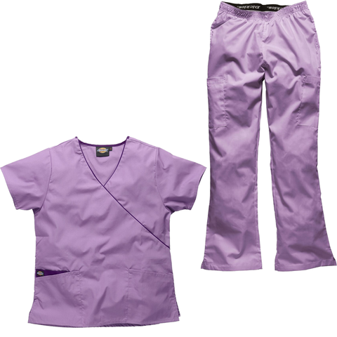 Light purple nursery staff uniforms and nursery nurse uniforms will put a smile on all of the kids faces.