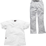 These white scrubs can work well as nursing home uniforms & care home uniforms but mix with another colour.