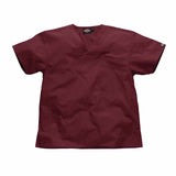 Dickies Scrubs Unisex Chest Top in Wine HC10106. Perfect as medical uniforms.