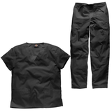 Black scrubs are great for hiding all of those nasty stains. Shop black scrubs sets here from Dickies.