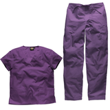 Dog grooming uniforms, dog grooming apparel & pet grooming uniforms in stately deep rich purple.