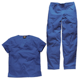 Healthcare uniforms, nursing home uniforms and vet scrubs in a lovely shocking royal blue colour.