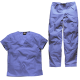 Try these ceil blue Dickies scrubs for your care home uniforms to create a calm, fresh feeling for patients.