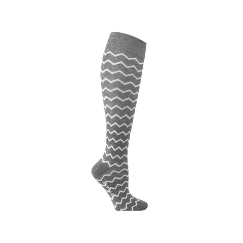 Compression Socks Grey With Zig Zag 7300-2 - Clothes Rack