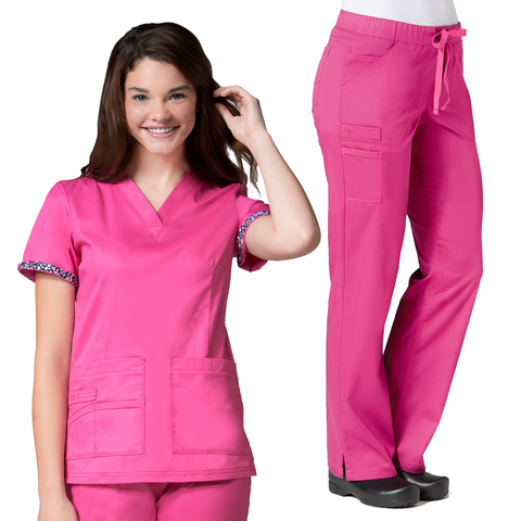This candy pink ladies primaflex set is suitable for nursing uniforms, nurses uniforms & childcare uniforms