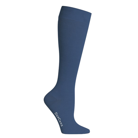 Classic blue compression socks. Are you on your feet all day in your nurses uniform? Try these compression socks out.
