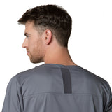 Pewter grey dentist uniform for men. These grey men's scrub top is sure to smarten up your workwear.