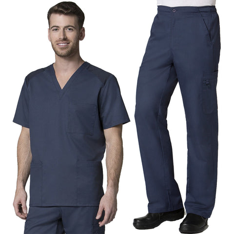 Need a new mens doctors scrub set> Try this Maevn Mens Scrub Set in true navy #scrubs.