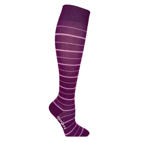 Compression Socks Purple Stripes 7400-6 - Clothes Rack