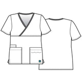 Sketch Maevn 1026 Contrast Mock Wrap Top Perfect As A Nurses Uniform Or Dental Uniform.