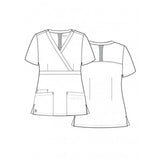Sketch Maevn 1748 EON/EON Active - Back Mesh Panel Mock Wrap Top. Great as medical uniforms, dental nurse uniforms & vet uniforms.