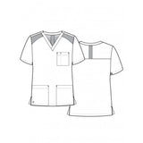 Sketch Maevn 5308 EON Active - Mesh Panel Mock Scrub Top For Men. Great as dentist uniform, scrubs or male nurse uniform.
