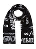 Cheap-Monday-Cheap-scarf-Many-logos-Black/white