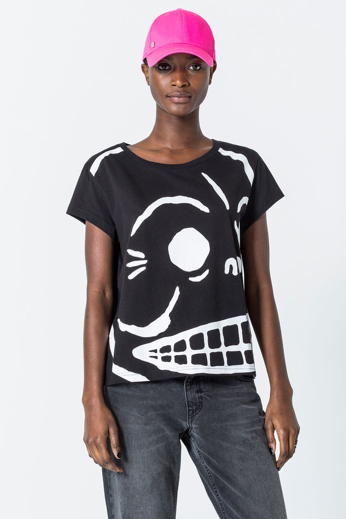 Cheap-Monday-Have-tee-Huge-skull-Black-T-Shirt