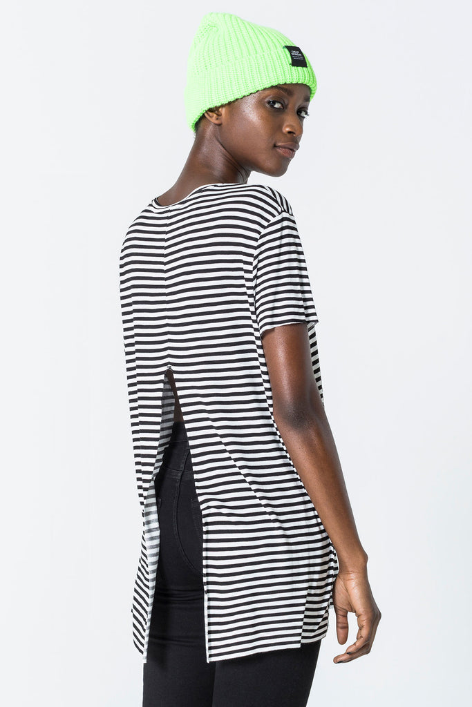 Cheap-Monday-Wager-top-Small-stripe-Black/White