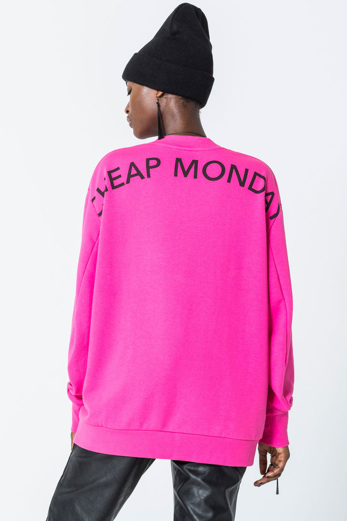Cheap Monday Sweat Arched logo Neon Pink
