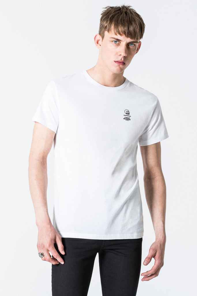 Cheap-Monday-Standard-tee-Line-skull-White-T-Shirt