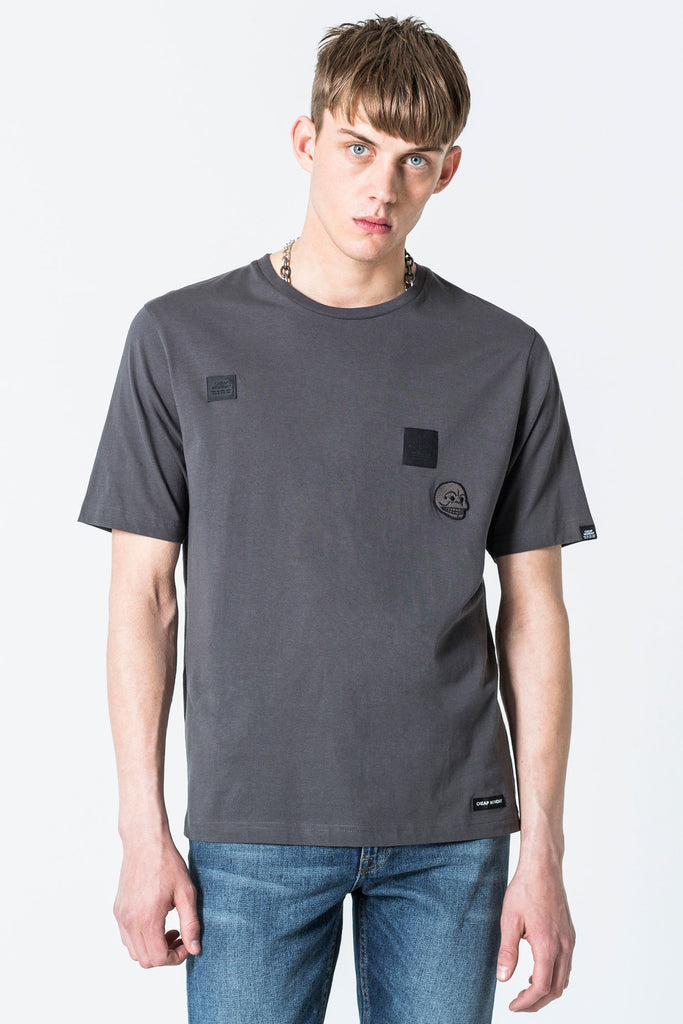 Cheap-Monday-Boxer-tee-Multi-patches-Dark-Grey