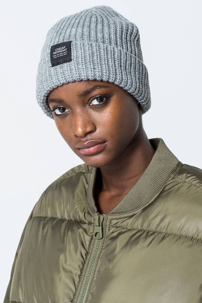 Cheap-Monday-Skull-beanie-Grey-Melange