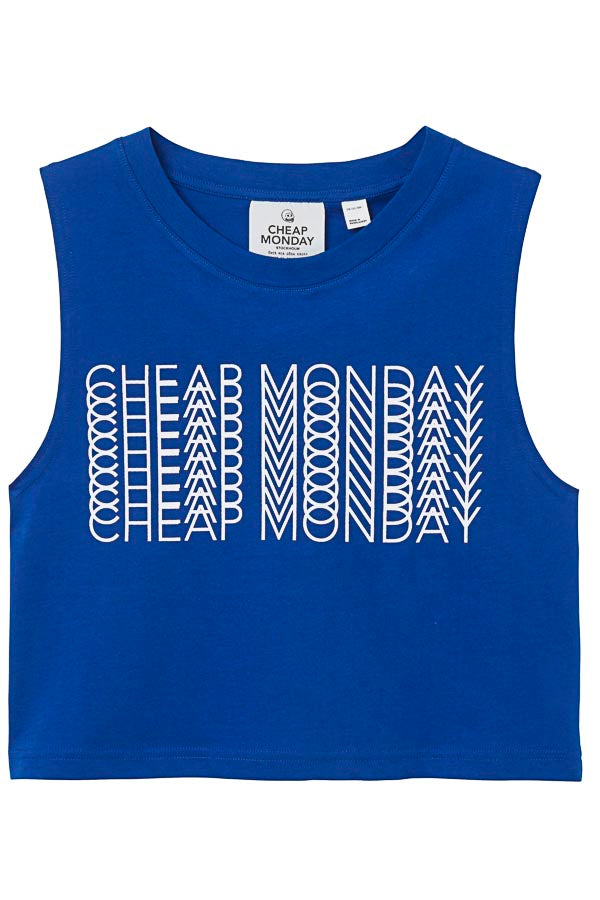 Cheap Monday Shield tank Repeat logo T-Shirt