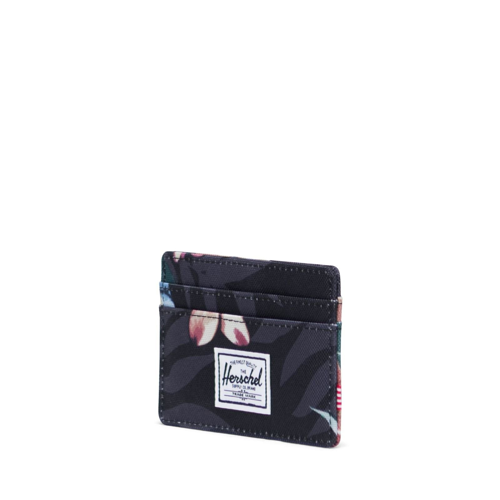 Picture of Herschel Supply Charlie RFID Summer Floral Black Kartlık