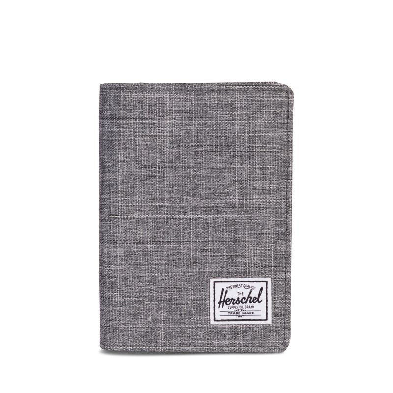 Herschel Supply Raynor Passport Holder RFID Raven Crosshatch