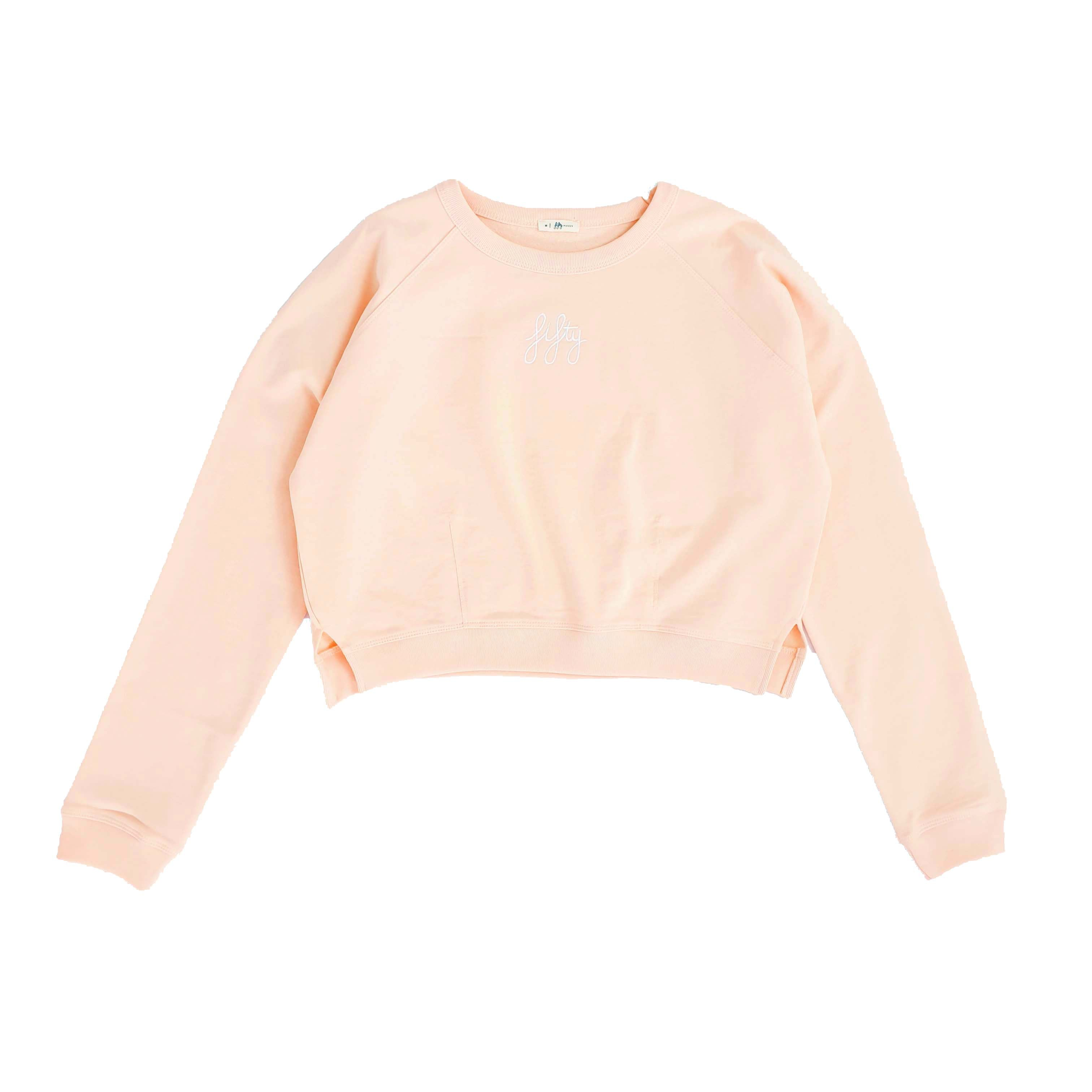 Picture of Fifty Pieces Baby Crop Sweat Şeftali