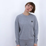 Fifty Pieces Must Have Düşük Omuz Sweat Gri Melanj