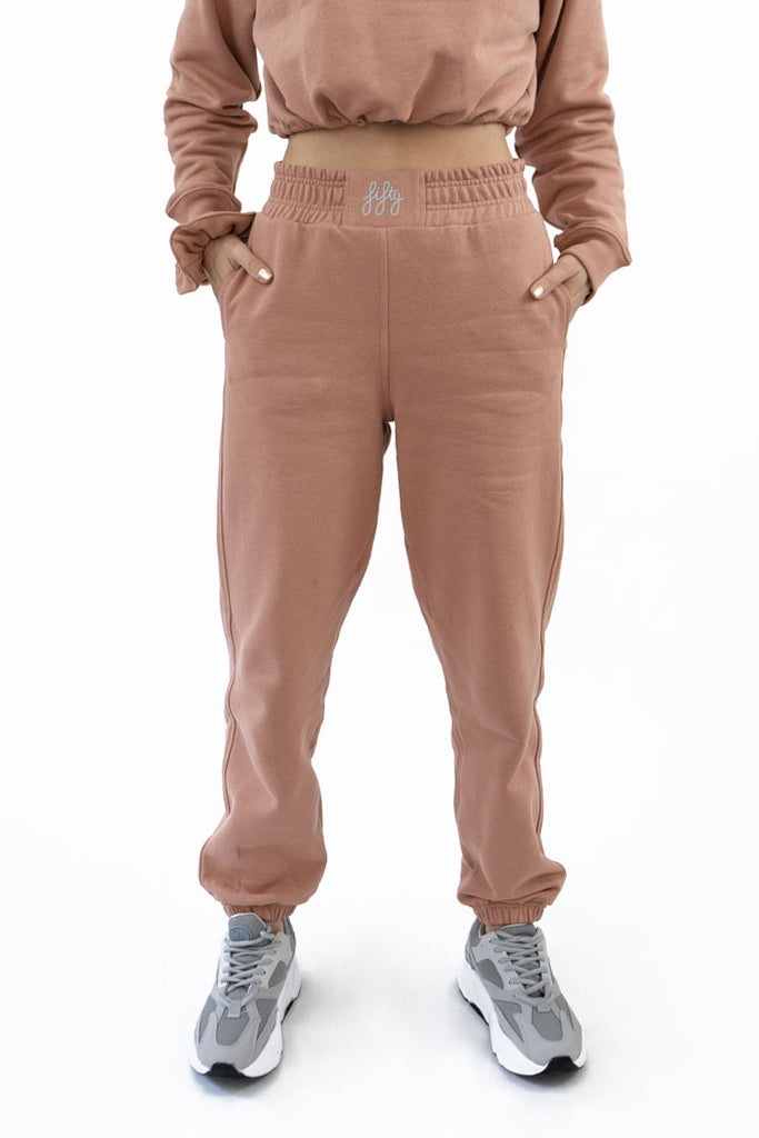 Fifty Pieces Loose Fit Joggers Nude