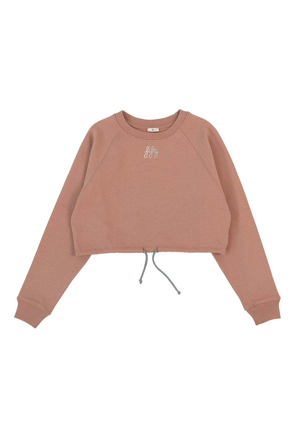 Picture of Fifty Pieces Büzgülü Crop Sweat Nude