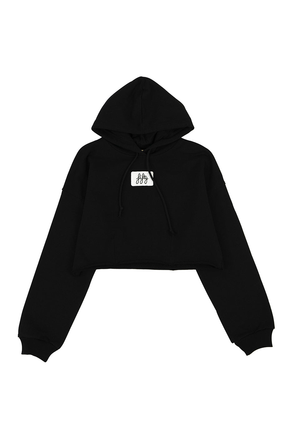 Picture of Fifty Pieces Oversize Crop Hoodie Siyah