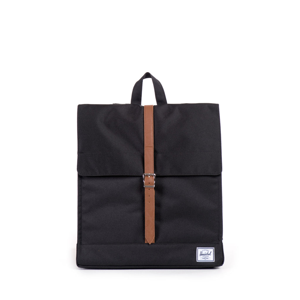 Herschel Supply City Black/Tan Synthetic Leather Sırt Çantası