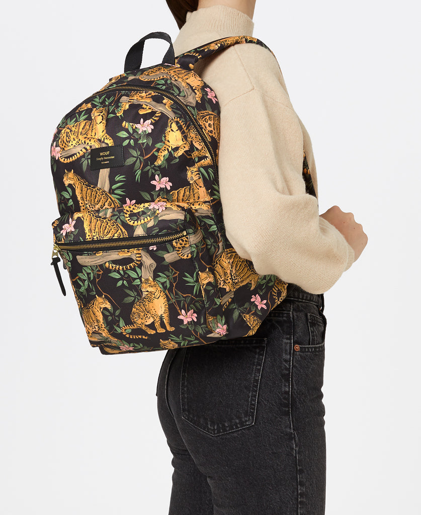 WOUF BACKPACK BLACK LAZY JUNGLE SIRT ÇANTASI