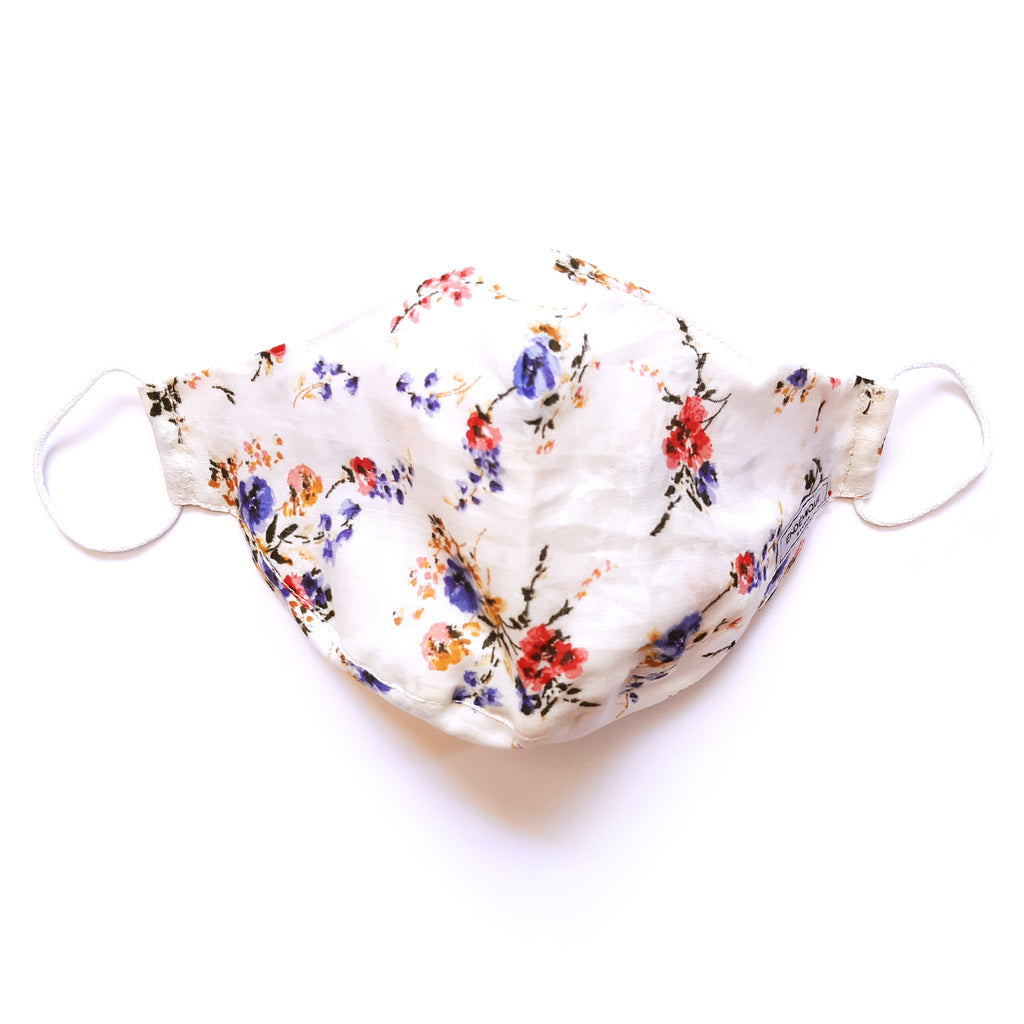 Endémique Studio The Mask Floral White-Yıkanabilir Yüz Maskesi
