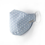 Endémique Studio The Mask Polka Dot Baby Blue-Yıkanabilir Yüz Maskesi