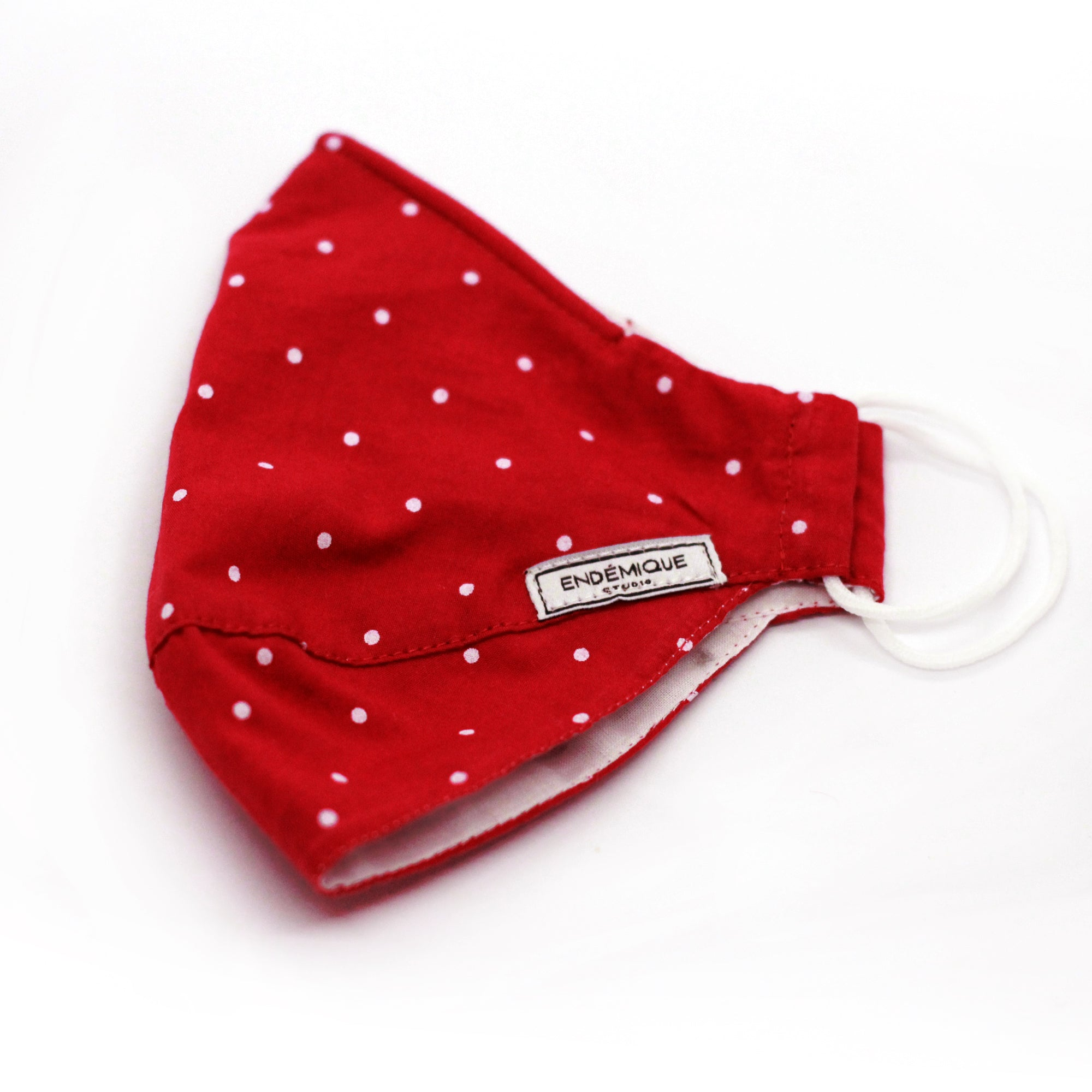 Picture of Endémique Studio Kids Mask Polka Dot Red-Yıkanabilir Yüz Maskesi 1-2-3 Yaş Çocuk