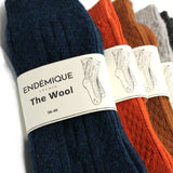 endémique studio the wool orange-kadın çorap