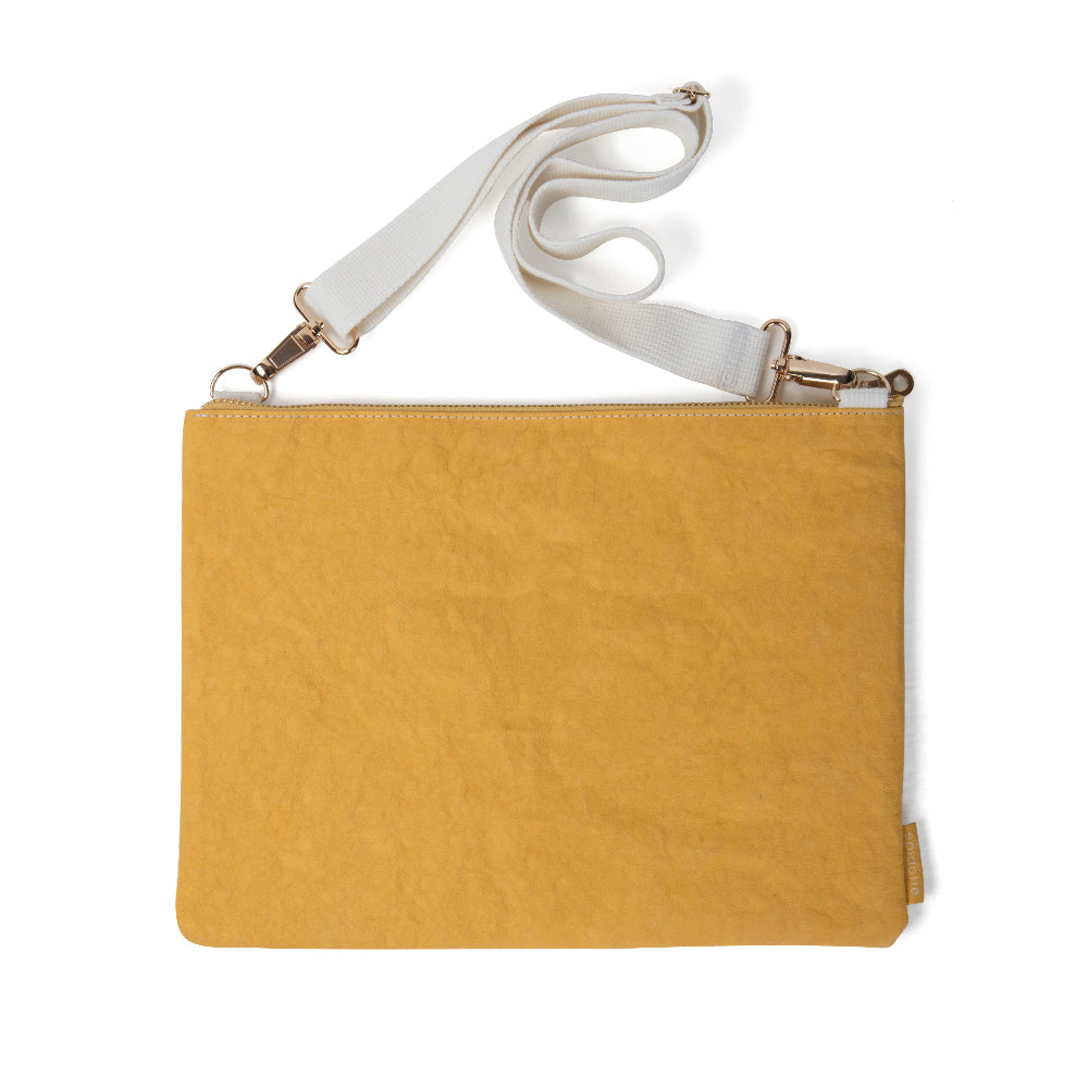 EPIDOTTE LAPTOP CASE WITH STRAP MUSTARD BİLGİSAYAR ÇANTASI