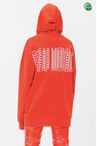 Cheap Monday Con sweat Arched logo Neon Pink