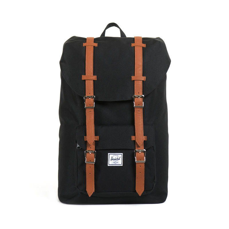 Herschel Supply Little America Mid-Volume Black/Tan Synthetic Leather