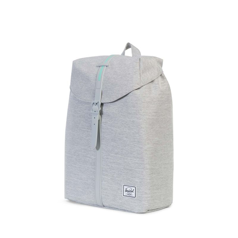 Herschel Supply Post Mid-Volume Light Grey Crosshatch/Grey Rubber/Lucite Green Inset